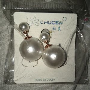 NWT dual sided pearl earrings!