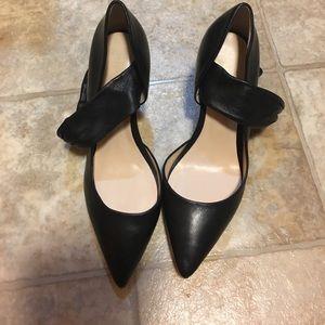 Nine West LEATHER stunning open side black heels