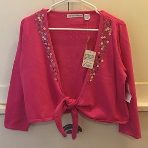 Marisa Christina Hot Pink Cropped Tie Front NWT S