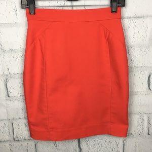 H&M Red High Waist Pencil Skirt Size XS