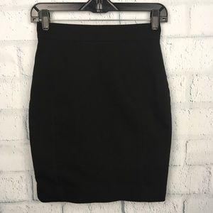 H&M High Waist Pencil Skirt Black Size XS