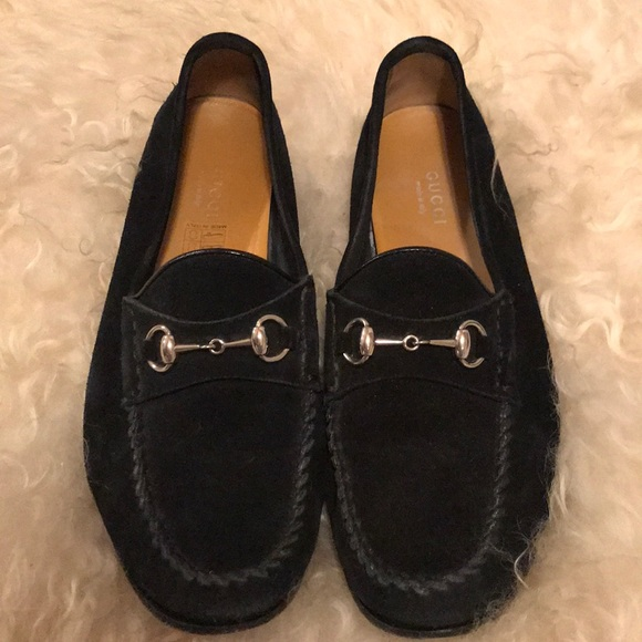 Gucci Shoes Black Suede Loafer 65 Like New Poshmark