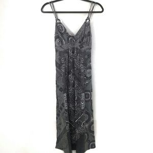 Lucky Brand dress XS gray paisley