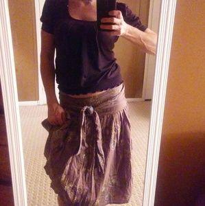 Embroidered Boho Maxi Skirt.