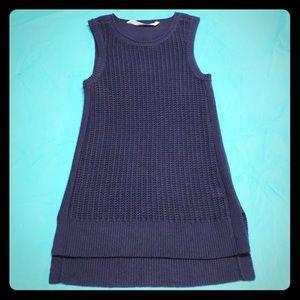 Navy blue Athleta sleeveless sweater XS