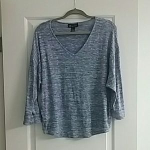 Sparkly Inc international Concepts blue sweater XL