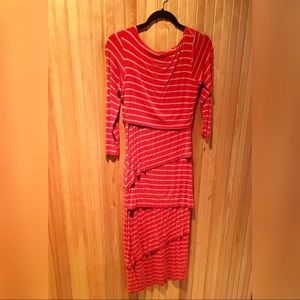 Anthropologie bailey 44 red striped column dress-M