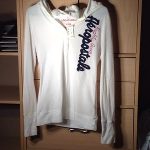 Aeropostale hooded long sleeve pullover size Large