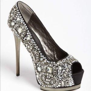 """ZiGiny Black Label """"Romi"""" Embellished Shoes Size 6"""