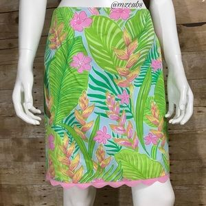 Lilly Pulitzer Floral/Palm Skirt