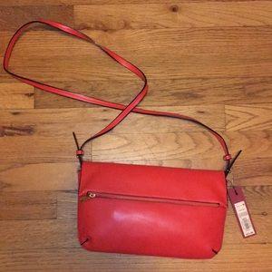 Bright red purse
