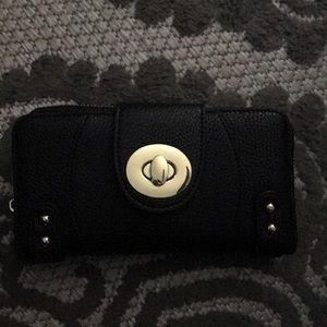 Charming Charlie black and gold wallet