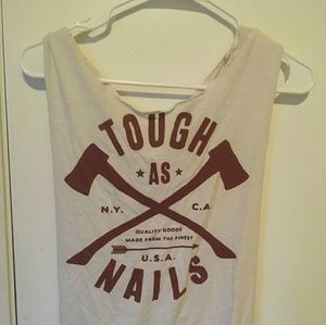 Tough as nails cream work out tank top