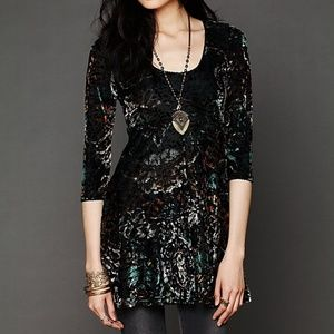 Free People Velvet Burnout Tunic Dress