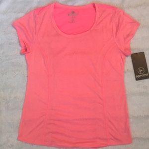 90 Degree Short Sleeve Gym/Yoga Shirt in Neon Pink