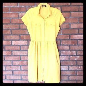 The Limited Canary Yellow Shirtdress