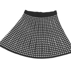 Houndstooth Knit Skirt by MAX STUDIO