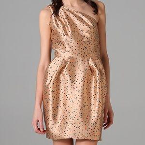 Porter Grey Silk Floral One Shoulder Peg Dress 4