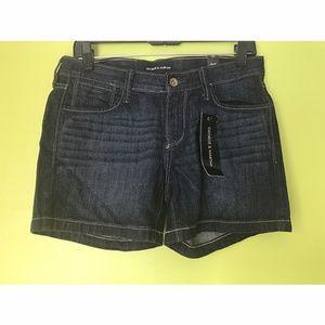 George & Martha Dark Wash Denim Jeans Shorts Sz 33