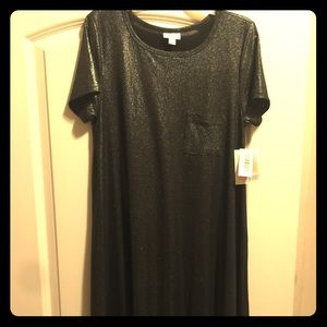 Small Lularoe Carly Black Elegant Collection NWT