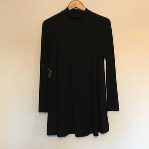 Nasty Gal Black tunic length dress