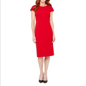 Like New!! Red  Short Sleeve Sheath Dress