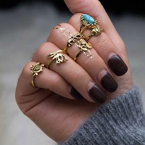 Jewelry - Gold Boho Midi Rings Set of 6