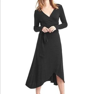 Long sleeve wrap dress from Gap