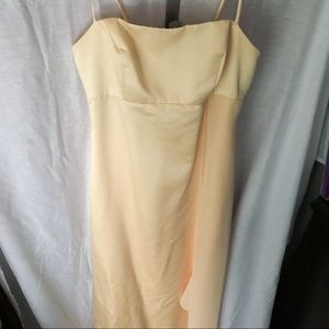 Alfred Angelo yellow formal dress