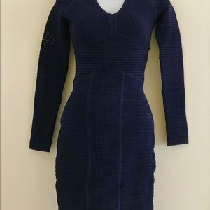 Yoga Azrouel Navy Open Knit design body-con   Sz 4