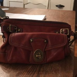 Coach vintage whiskey purse