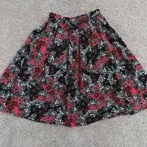 H&M midi pleated swing skirt