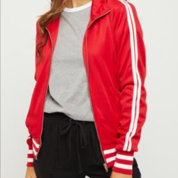 33202ba29 Red striped track jacket Boutique