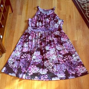 Apt. 9 pink purple floral dress