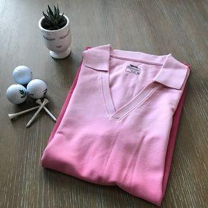 Slazenger Pink Ombré Golf Polo
