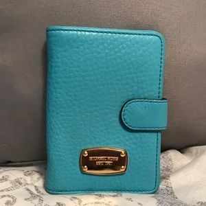 Teal Micheal Kors wallet