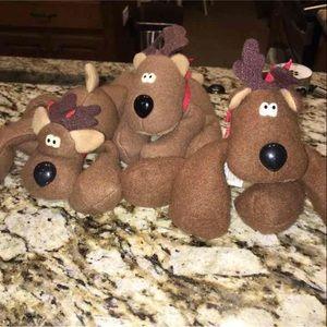 3 Hallmark Rodney Reindeer
