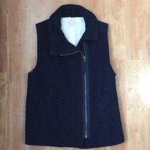 J. Crew Factory Fleece-Lined Wool Vest
