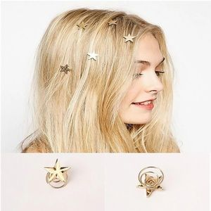 Free People 3 star hairpins hair accessory