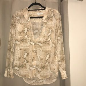 Equipment | Tan snakeskin silk blouse
