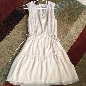 cream dress from GAP.