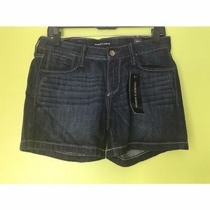 George & Martha Dark Wash Denim Jeans Shorts Sz 38