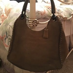 Gucci Large Hobo - Suede with Wooden Handle