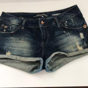Zara Dark blue wash shorts.
