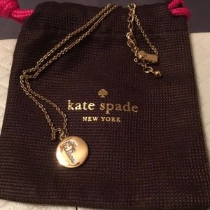 """Kate Spade Gold Initial Necklace """"P"""""""