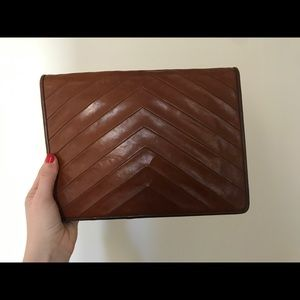 Yves Saint Laurent Clutch  Brown Leather Vintage