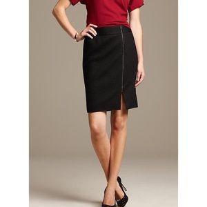 Banana Republic Boucle Wool Front Zipper Skirt