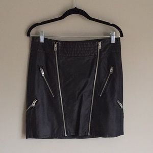 Express Faux Leather Skirt