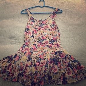 Free People Floral Tank Dress