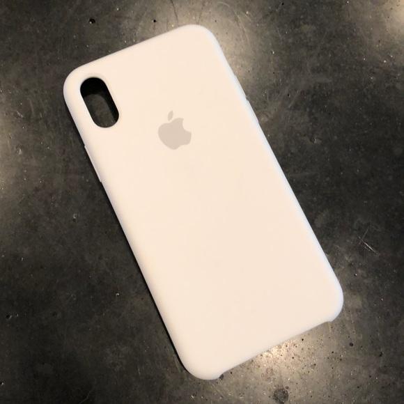 purchase cheap 461c7 b0e6c Apple iPhone X Silicone Case White